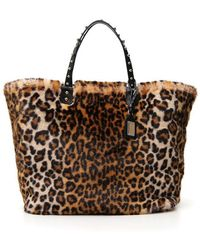 71de5715fe3f Lyst - Dolce   Gabbana Leopard Print Sicily Mini Tote Bag in Black