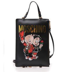 Moschino - Piggy Logo Tote Bag - Lyst