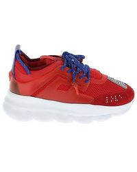 Versace Chain Reaction Chunky Sole Sneakers - Red