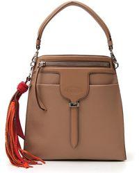 0d0eaae66017a Tory Burch Thea Crossbody Chain Bag in Brown - Lyst