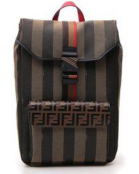 8e507e43e883 Fendi - Ff Monogram Striped Backpack - Lyst