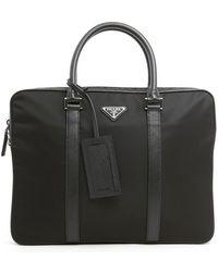 Prada - Top Handle Laptop Bag - Lyst