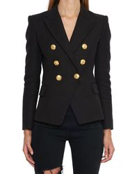 Balmain - Double Breasted Fitted Blazer - Lyst