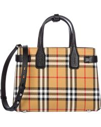 Burberry Classic Vintage Checked Tote Bag in Natural - Lyst d1a0bfd469373