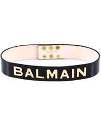 Balmain - Logo Plaque Belt - Lyst