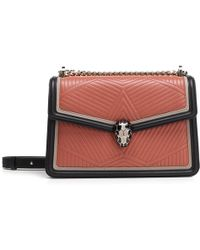 BVLGARI - Serpenti Forever Quilted Shoulder Bag - Lyst