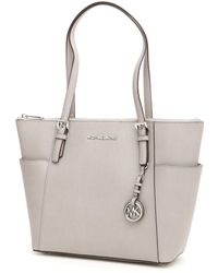 859bb672866a Lyst - Michael Michael Kors Small Jet Set Travel Tote - Luggage in White