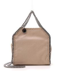 9aeb23f932 Lyst - Stella McCartney Falabella Metallic Quilted Faux Leather Tote ...