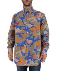Valentino - Camouflage Printed Shirt - Lyst