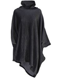 Issey Miyake - Textured Roll Neck Smock Dress - Lyst