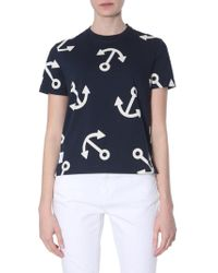 Thom Browne - Relaxed Fit Cotton Jersey T-shirt With Still Print - Lyst