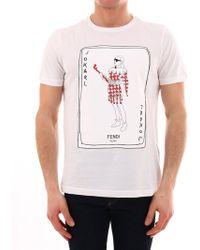 3e2313345 Fendi Men's Gold Bugs Appliqué T-shirt in Black for Men - Lyst