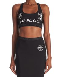 a60f2639ff1d6 Lyst - Off-White c o Virgil Abloh Logo Sports Bra in Black