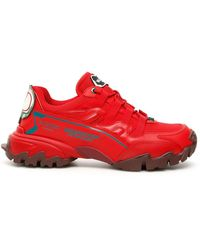 Valentino V Logo Sneakers - Red
