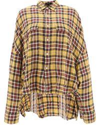 48c7bb5684 R13 Women's Oversized Long Sleeve Striped Shirt - Blue Stripe in ...