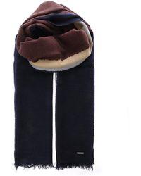 Woolrich - Geometric Wool Scarf - Lyst
