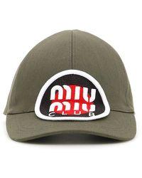 Miu Miu - Club Logo Patch Cap - Lyst
