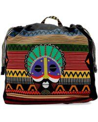 Etro - Multicolour Nylon Backpack - Lyst