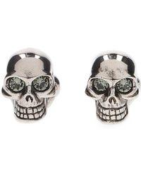 Alexander McQueen - Twin Skull Cufflinks - Lyst