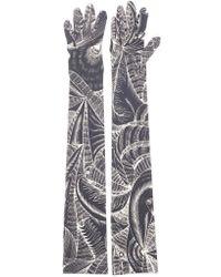 Dries Van Noten - Printed Peacock Gloves - Lyst