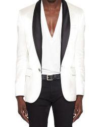 Balmain - Contrasting Tuxedo Blazer - Lyst