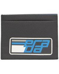 Prada - Logo Saffiano Leather Cardholder - Lyst