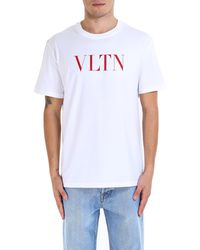 Valentino - Printed Jersey T Shirt - Lyst