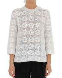 Comme des Garçons - Knitted Lace Sweatshirt - Lyst