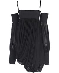 Céline - Off The Shoulder Gathered Top - Lyst
