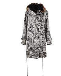 Dries Van Noten - Pattern Print Hooded Jacket - Lyst