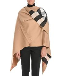 Burberry - Reversible Check Cape - Lyst
