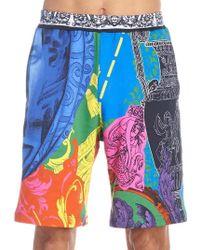 Versace - Printed Bermuda Shorts - Lyst