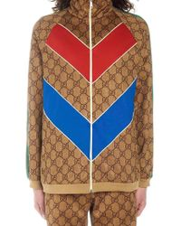 544062e83 Gucci Reversible Padded Bomber Jacket in Blue for Men - Lyst