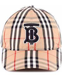 9422503c9b167d Burberry Graffiti Print Vintage Check Baseball Cap in Yellow - Lyst