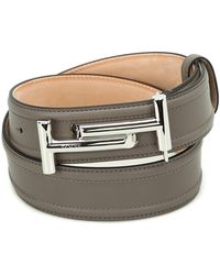 Tod's - Double T Leather Belt - Lyst
