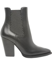 Saint Laurent - Theo Leather Boots - Lyst