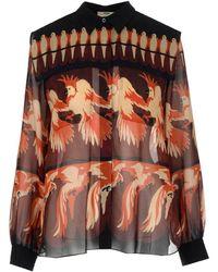 Fendi Bird Print Button-up Blouse