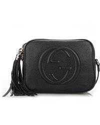692174d5f77c Gucci Soho Leather Chain Shoulder Bag in Black - Lyst