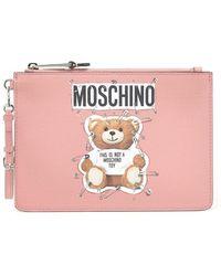 Moschino - Bunny Teddy Bear Clutch - Lyst