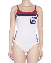 Prada - Scoop Back Bodysuit - Lyst