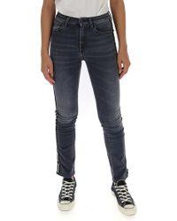Marcelo Burlon - High Rise Jeans - Lyst