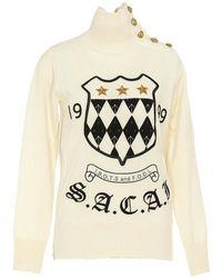 Sacai - Emblem Embroiderey Knit - Lyst