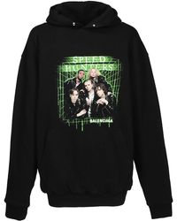 6e525f1c9f Balenciaga - Speed Hunters Cotton Hooded Sweatshirt - Lyst