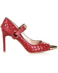 Valentino - Garavani Mary Jane Rockstud Quilted Pumps - Lyst