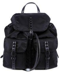 Prada - Buckle Flap Backpack - Lyst