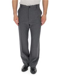 Versace - Pinstripe Trousers - Lyst