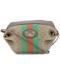 4e3964c4b6 Gucci Lady Web Medium Leather Shoulder Bag in Brown - Lyst