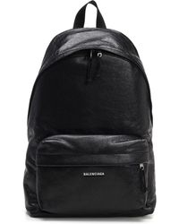 502b04591 Balenciaga Leather School Backpack in Black for Men - Lyst