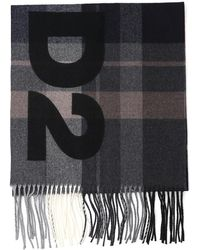 DSquared² - Checked Fringed Scarf - Lyst