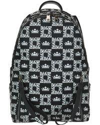 Dolce & Gabbana All Over Logo Print Backpack